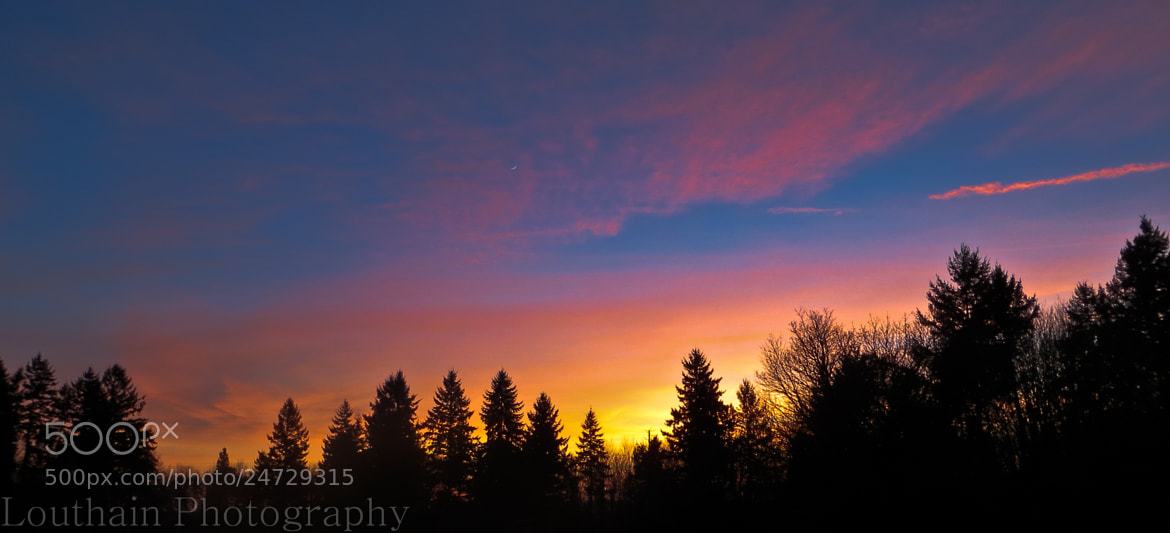 Photograph Pink Sunset by Eric Louthain on 500px