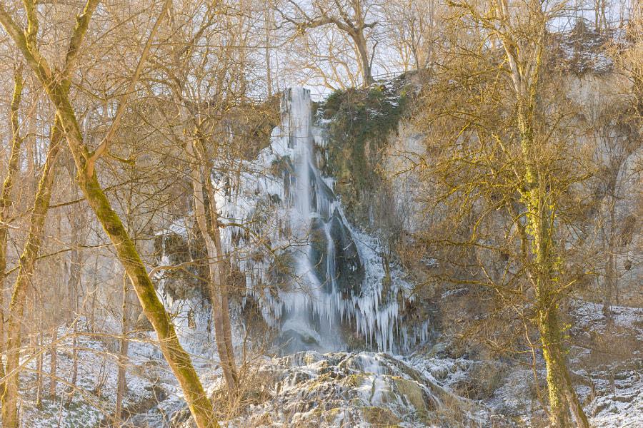 Uracher Wasserfall in winter by Manfred Münzl on 500px.com