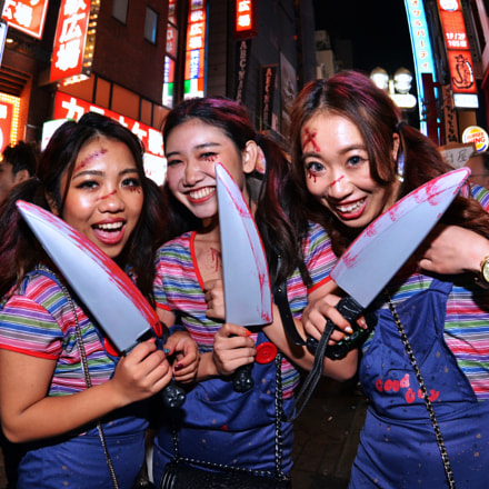 Halloween in Tokyo, Nikon D7000, AF DX Fisheye-Nikkor 10.5mm f/2.8G ED