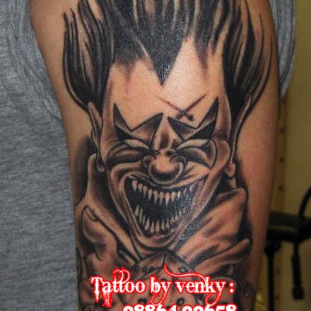 Evil Clown tattoo, Canon POWERSHOT A580