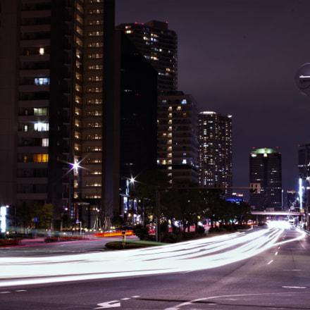 TOKYO-  Harumi street. (晴海通りのバルブ撮影), Pentax K-30, smc PENTAX-FA 35mm F2 AL