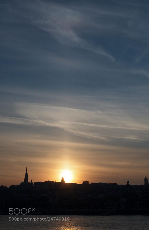 Photograph Sun Pillar over Budapest  by György Soponyai on 500px