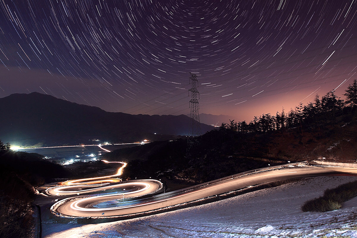 Photograph Startrails in Jianjae by SUNNY WOO on 500px