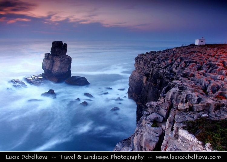 Photograph Portugal - Nau dos Corvos - Rock Formation - One of Peniche's Landmarks by Lucie Debelkova -  Travel Photography - www.luciedebelkova.com on 500px