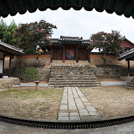 Traditional architecture of Korean 대한민국, Nikon D3S, AF Fisheye Nikkor 16mm f/2.8D