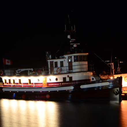 Boats at night, Nikon D7000