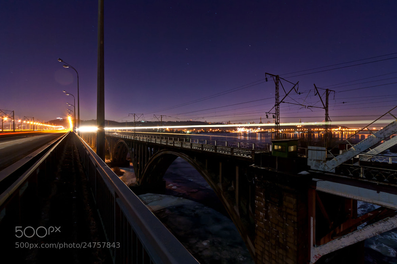 Photograph Night on the bridge by Evgeny Shilyaev on 500px