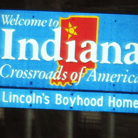 Indiana State Sign, Canon POWERSHOT A560