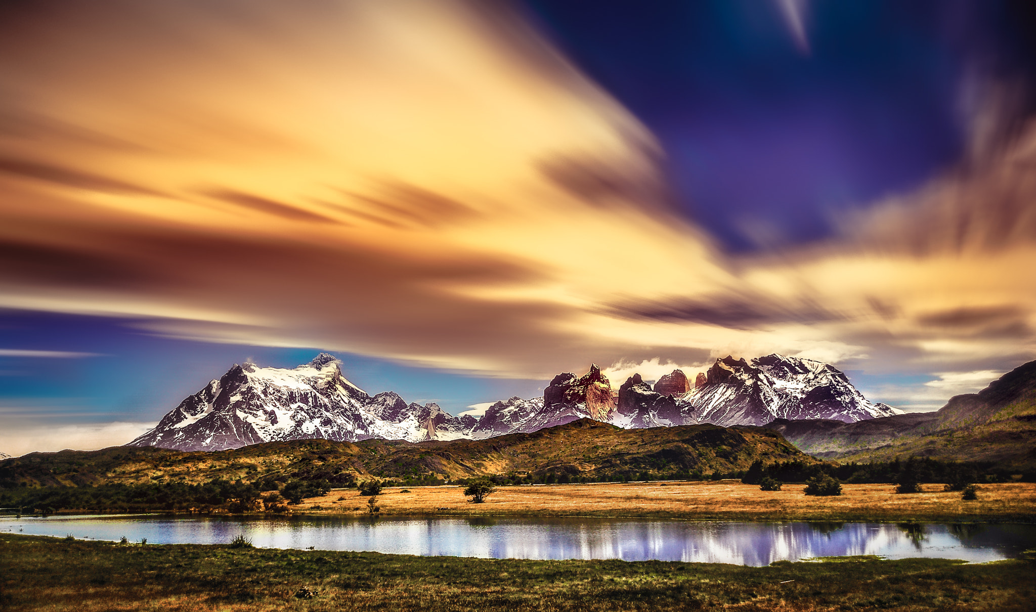 Photograph Sunset. Torres del Paine National Park in Chilean Patagonia. Patagonia, Chile © Nora de Angelli / ww by Nora De Angelli on 500px
