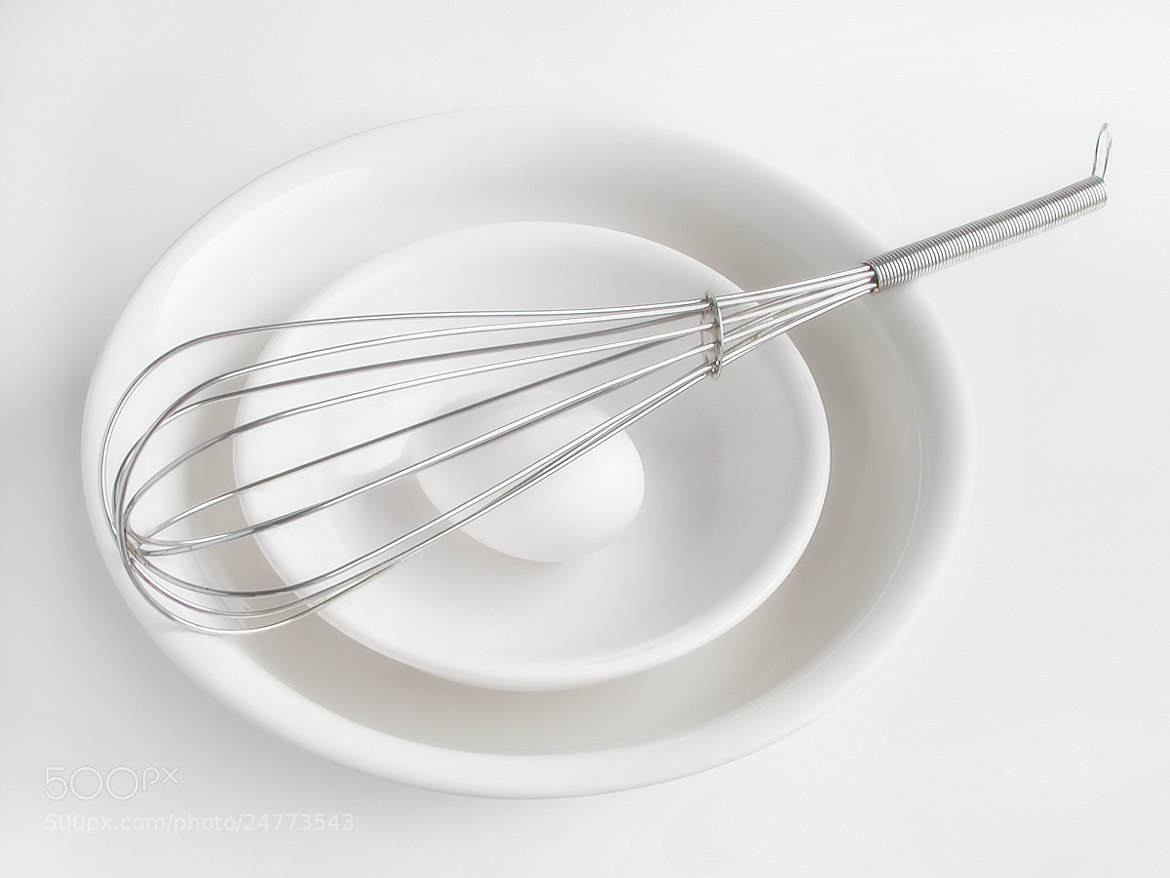 Photograph Whisk on White by Sharon Smith on 500px