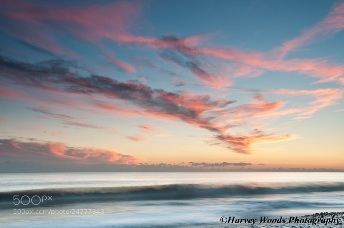 Photograph Sunset over the Sea by Harvey Woods on 500px
