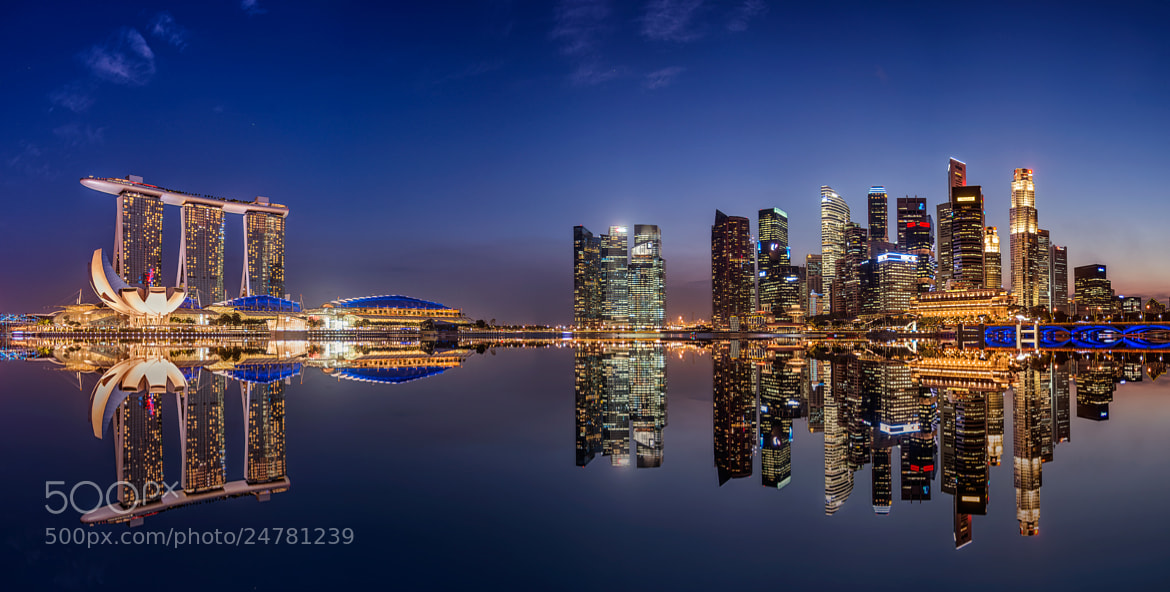Photograph Reflection of the Central Business District by Danny Xeero on 500px