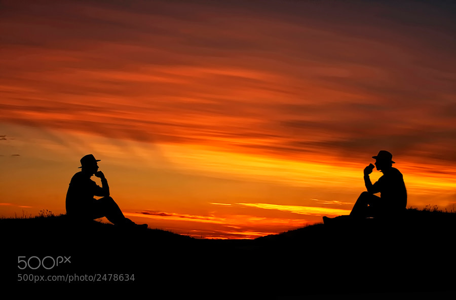 Photograph The Thinker and the Drinker by Þorsteinn H Ingibergsson on 500px