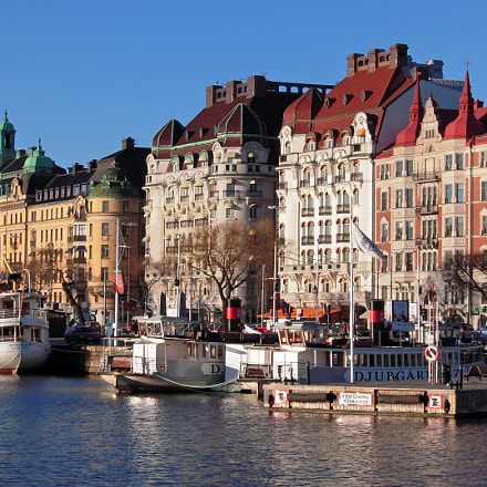 Winter sun on Stockholm..., Nikon COOLPIX S600