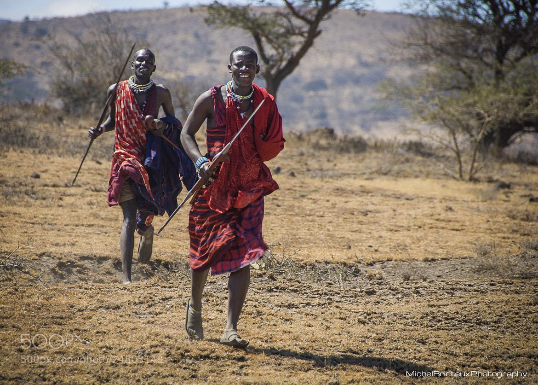 Photograph Masai Warriors, Tanzania by Michel Bricteux on 500px