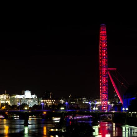 London Eye at Night, Canon EOS 600D, Sigma 70-300mm f/4-5.6 [APO] DG Macro