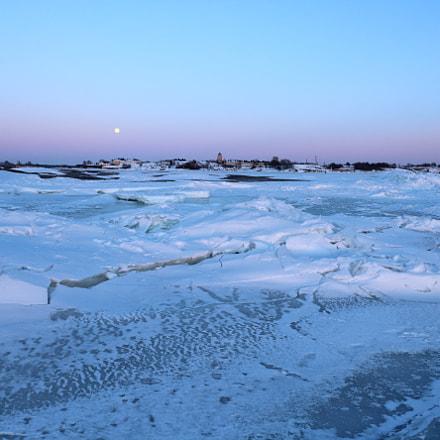 Frozen Sea Sunset, Canon EOS 1200D