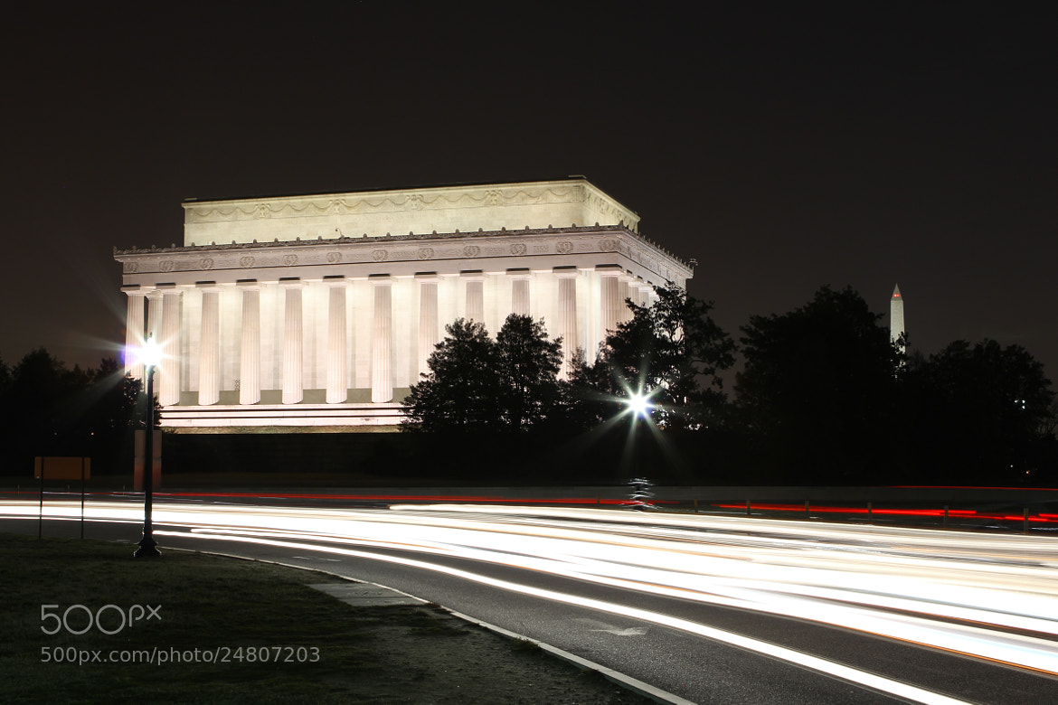 Photograph Lincoln Memorial at Night by Andrew Rhodes on 500px