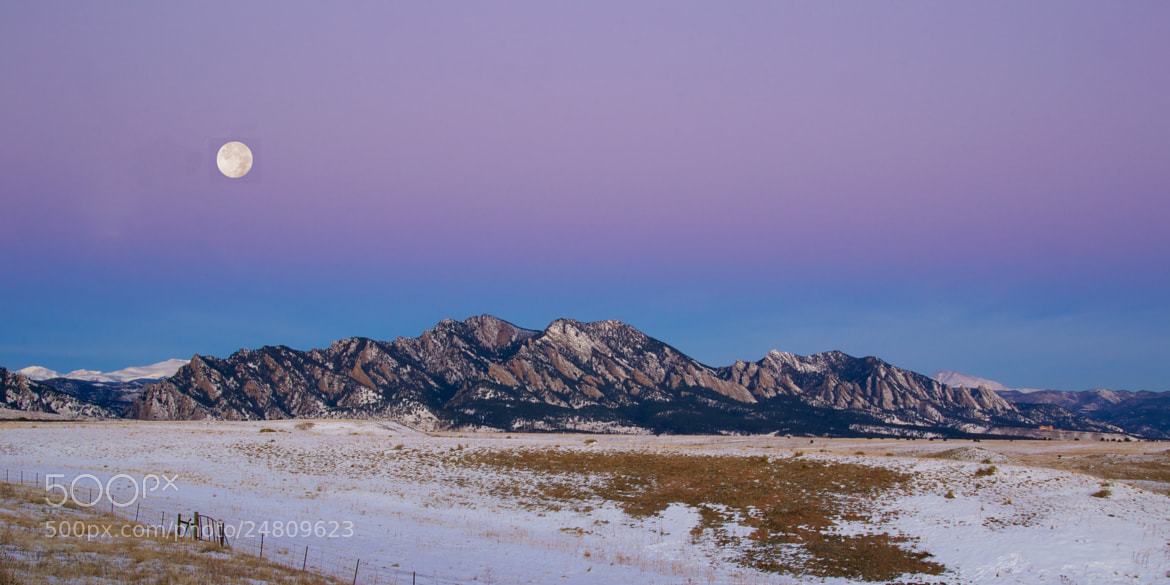 Photograph Full Moon over Flatirons in Winter by Heather Diamond Ryan on 500px
