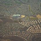 The suburban sprawl flying into Las Vegas.