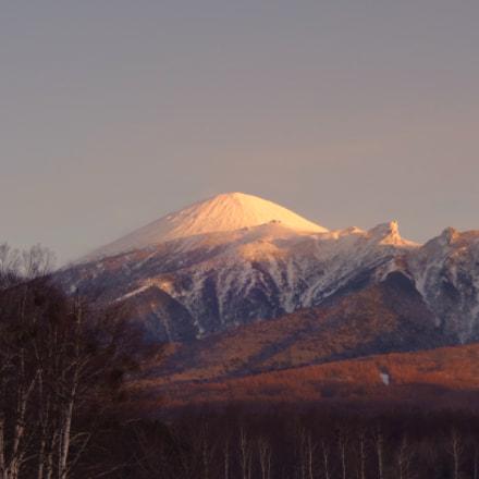 岩手山の雪日暮れ, Sony DSC-WX200