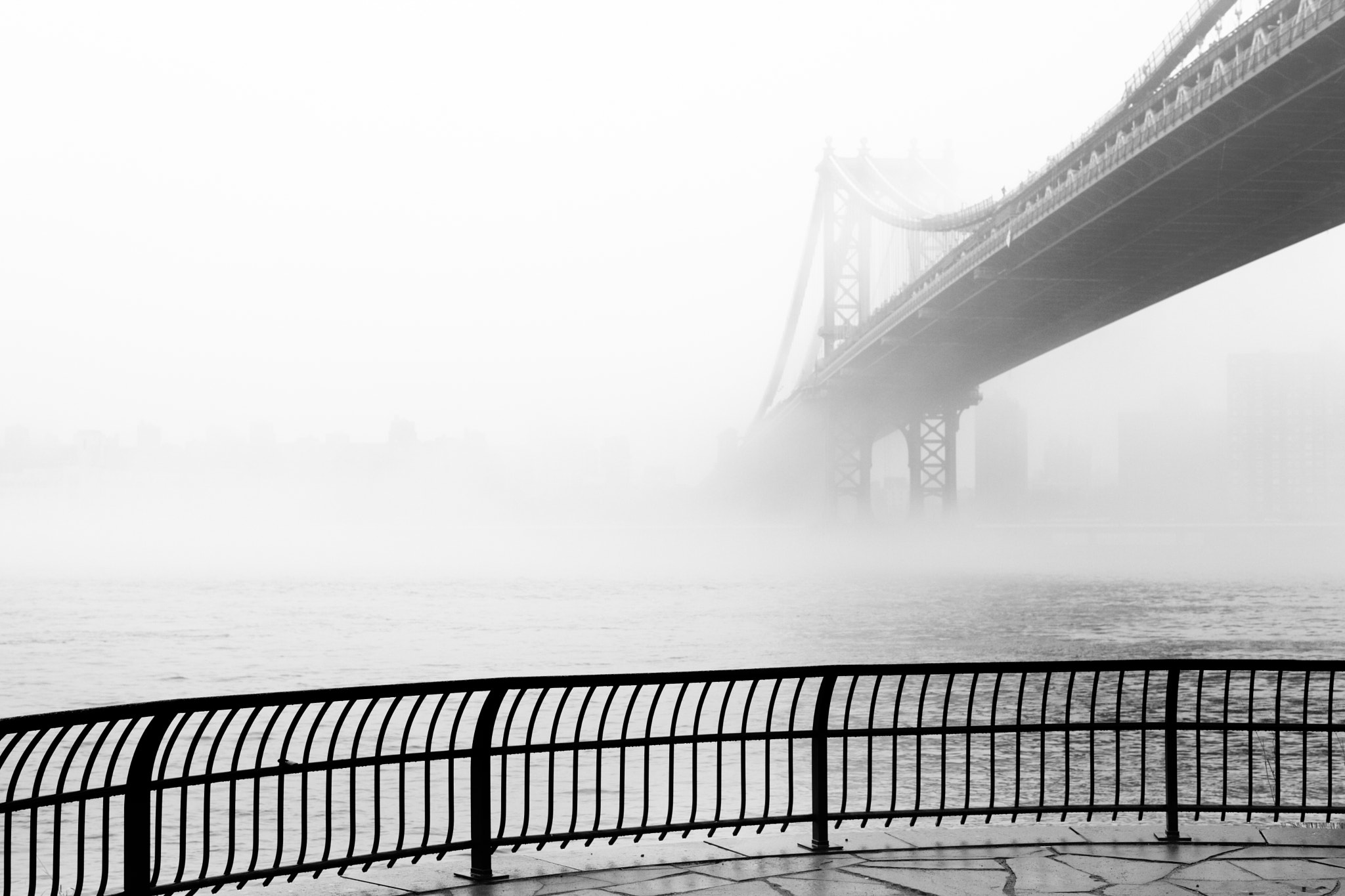 Photograph Manhattan Bridge in the fog by Anthony Pitch on 500px