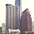 Downtown Austin shot from across the river.