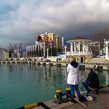 Морпорт. Зима. Рыбаки., Sony DSC-HX400