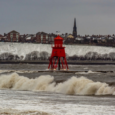 Storm surge on a cold winters day.