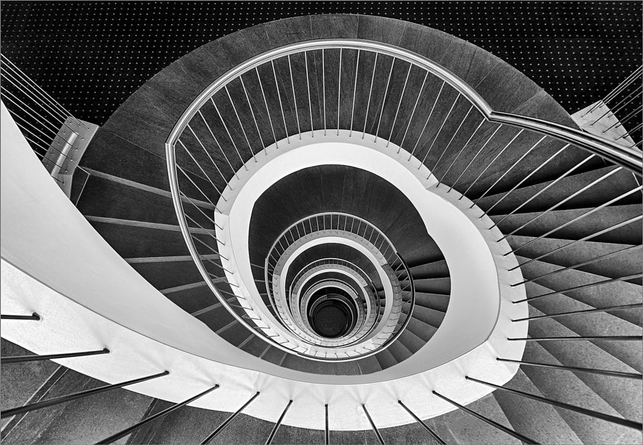 Spiral staircase by Herbert  A. Franke on 500px.com