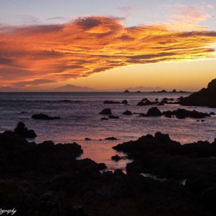 Sunset over Princess Bay, Panasonic DMC-FT4