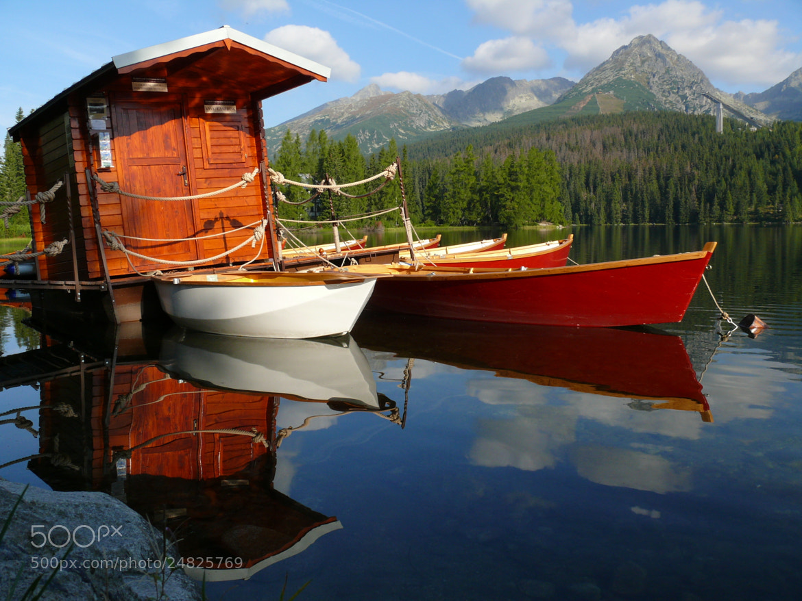 Photograph Boats on a mountain lake by Petr Podroužek on 500px