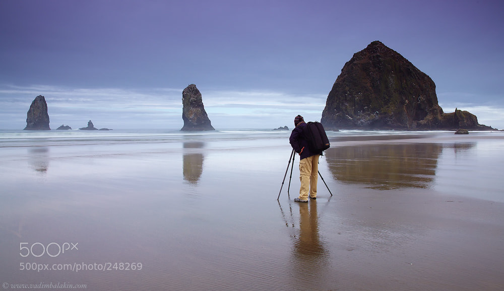 Photograph Canon Man on Cannon Beach by Vadim Balakin on 500px