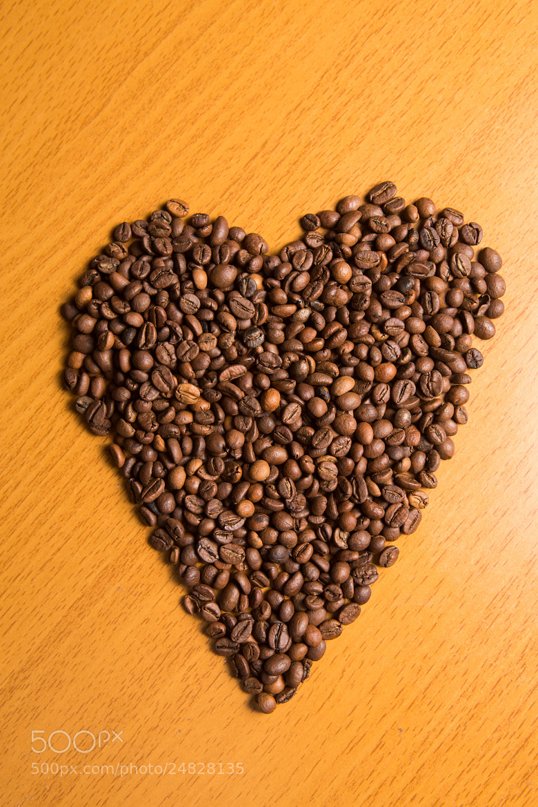 Photograph coffee beans and the heart by Ruslan Grigoriev on 500px