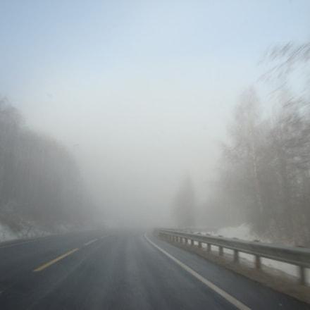 Foggy road, Sony DSC-W170