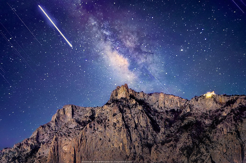 Photograph Trace of Jupiter above the Ai-Petri mountain by Alexandr Klemm on 500px