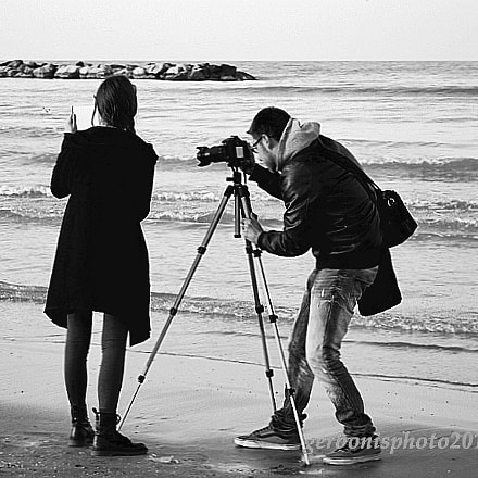 shooting on the shore, Nikon COOLPIX S4150