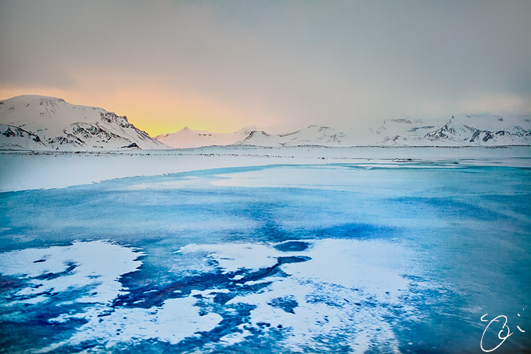 Photograph Hot & Cold - sunrise in the snow by Olinn Thorisson on 500px