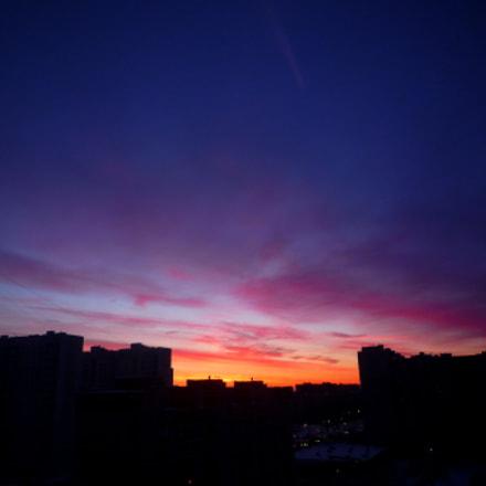 Amazing sky. Early morning #2, Panasonic DMC-FX500