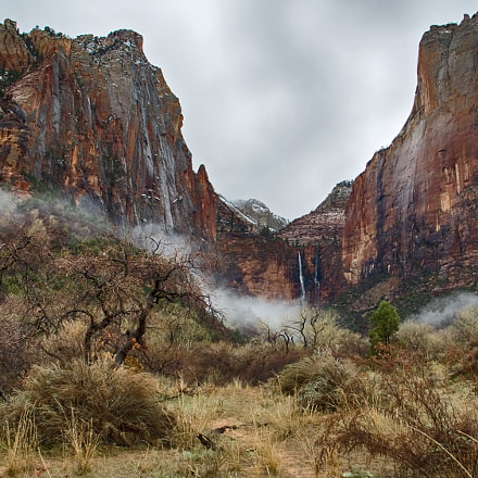 A cloudy day @ Zion, Canon POWERSHOT G6