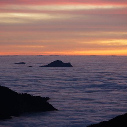 火燒雲&雲海, Canon EOS 5D