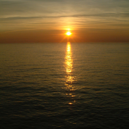Sunset over The Channel, Fujifilm FinePix F601 ZOOM