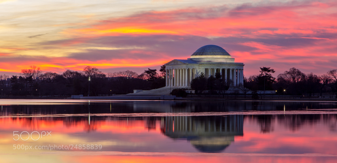 Photograph Jefferson Memorial Sunrise by Andrew Rhodes on 500px