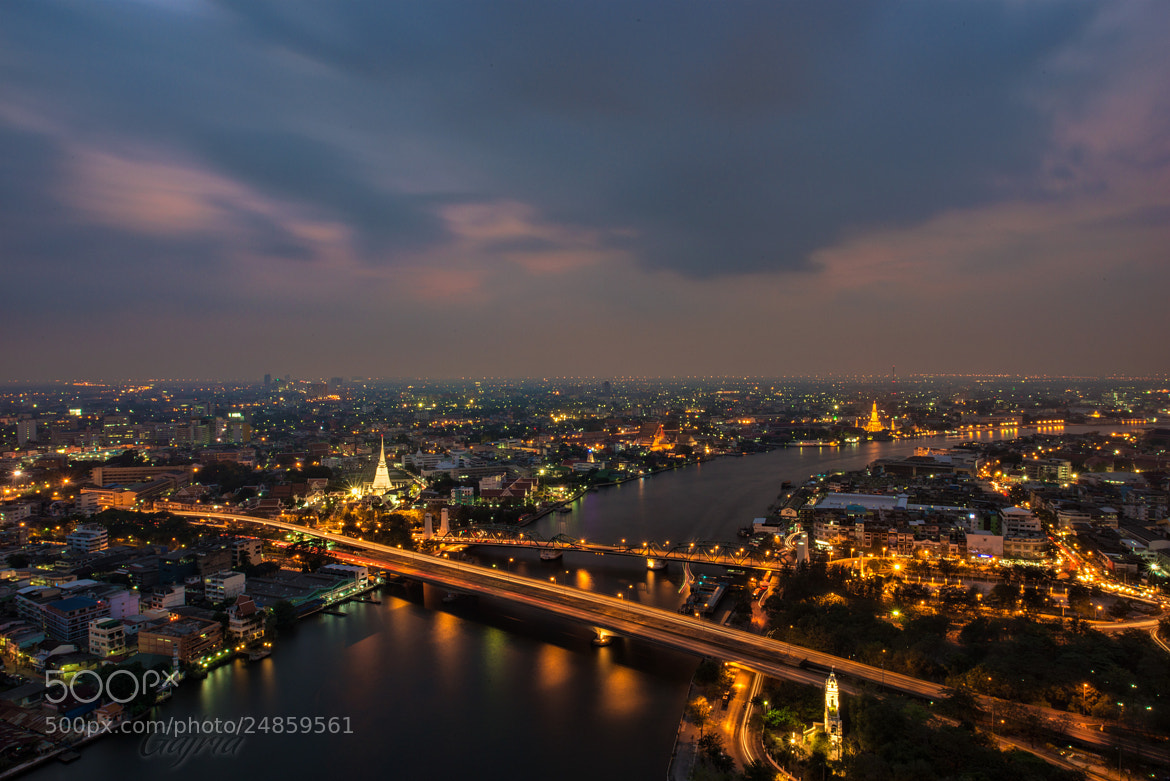 Photograph Chao Phraya River by Night by Manish Gajria on 500px