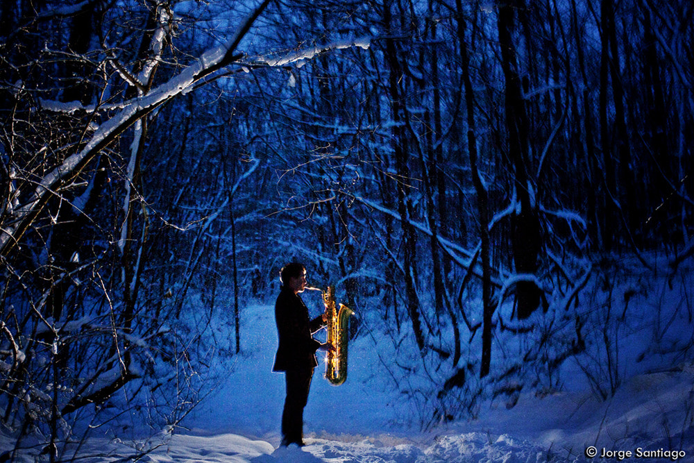 Photograph The Alpine Ghost's Saxophonist by jlsantiago on 500px