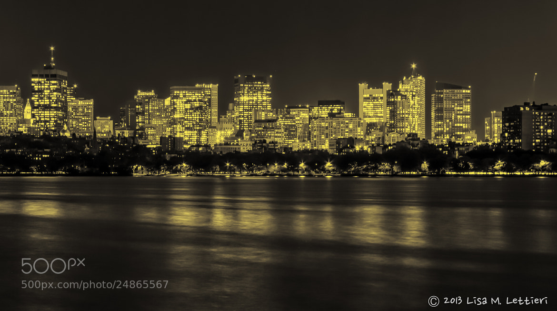 Photograph Boston Skyline B&W by Lisa Lettieri on 500px