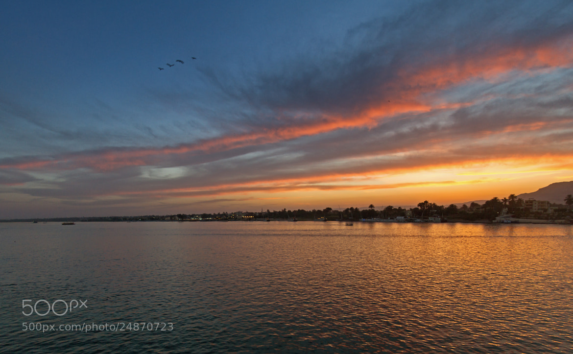 Photograph Sunset on Nile by S A  I on 500px