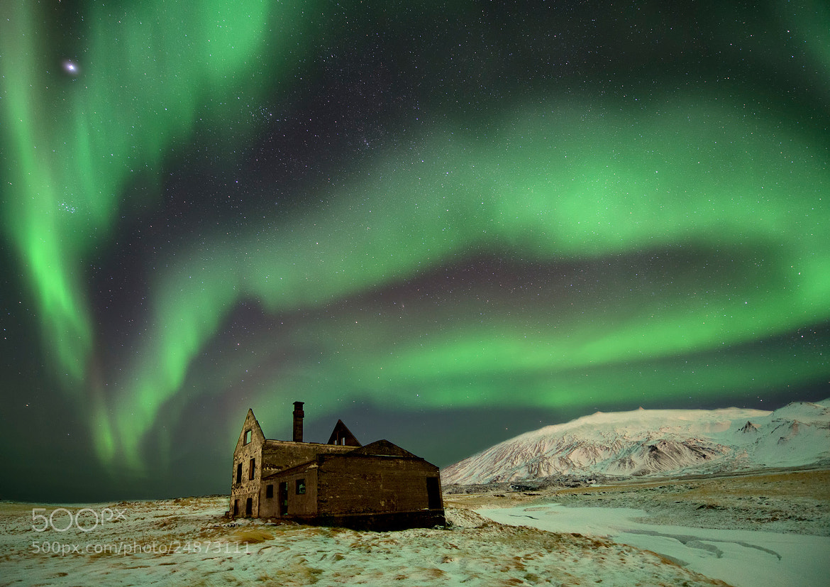 Photograph Spooky Aurora House by Dominik Orth on 500px