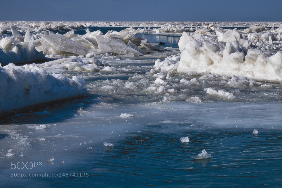 Ice floes.