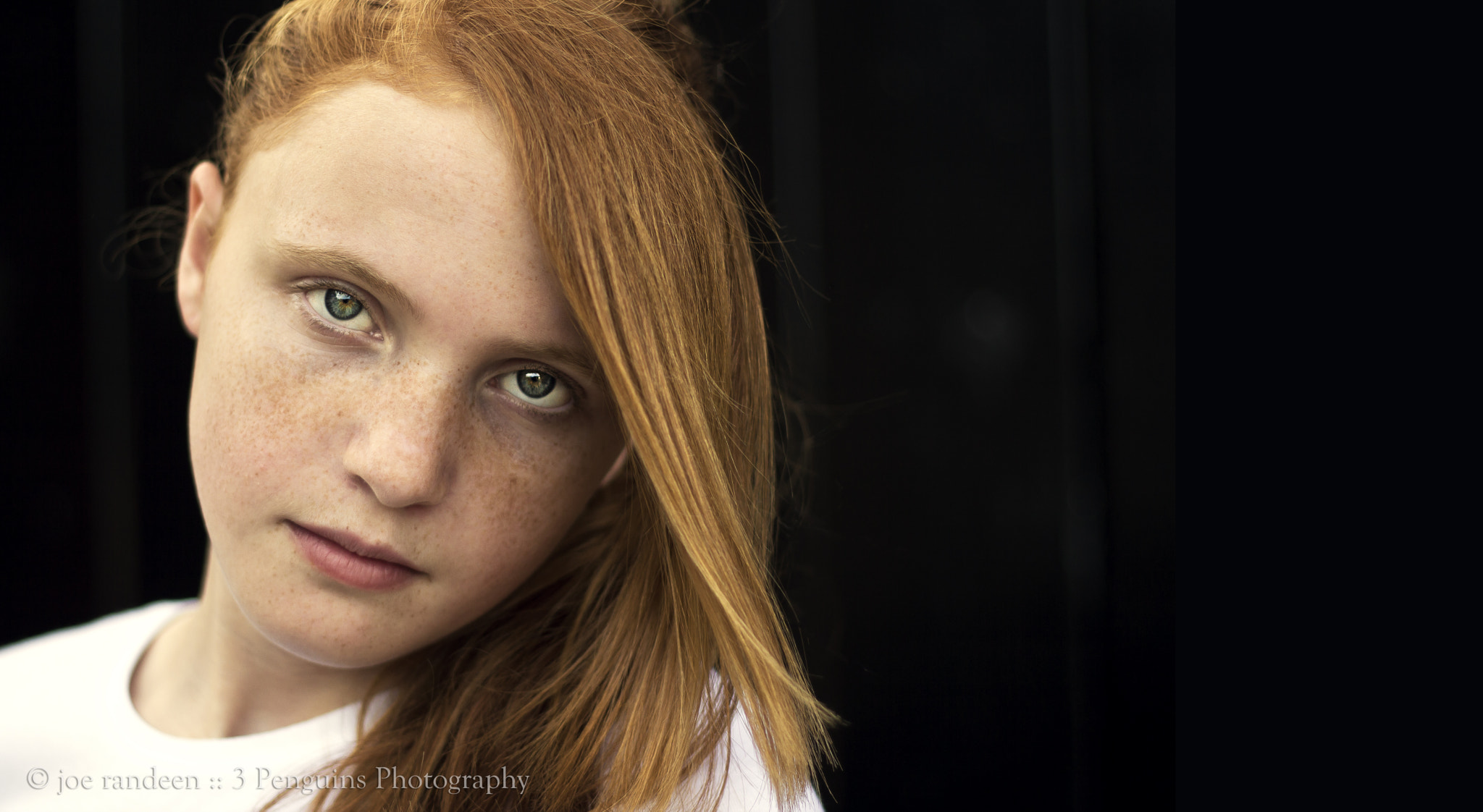 Photograph Lady Red on Black by Joe Randeen on 500px